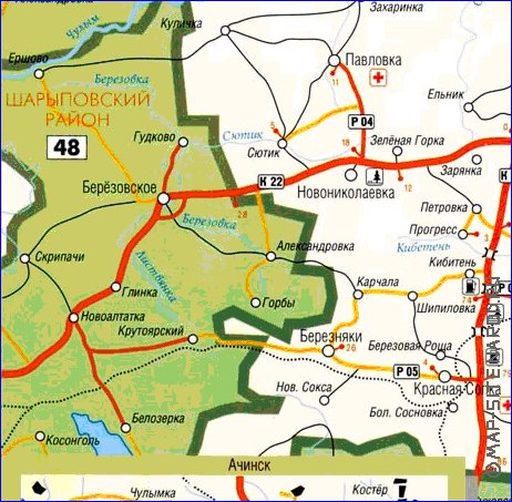 карта назаровского района