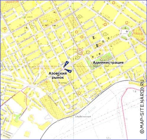 Схема улиц г.новочеркасска